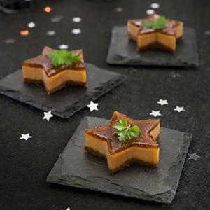 cheesecakes au foie gras et à la confiture de figues bonne maman®