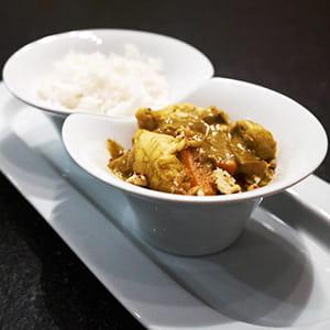 carottes au curry et au poulet