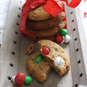 cookies de noël aux m&m's®