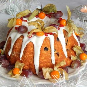brioche de noël à l'orange et aux raisins