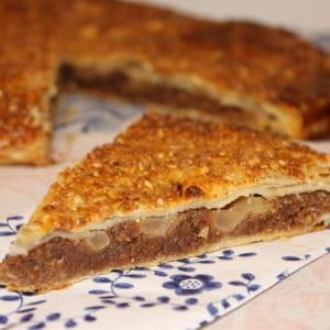 galette des rois chocolat, pommes, pralin