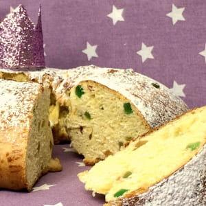 gâteau des rois brioché, bolo rei