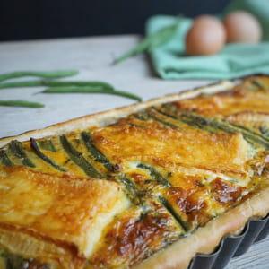tarte aux haricots verts et au brie