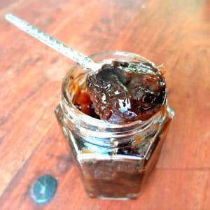 marmelade de pruneaux au thé