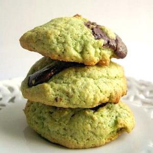 cookies à la pistache et aux pépites de chocolat
