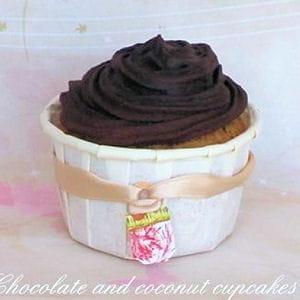 cupcakes chocolat-noix de coco