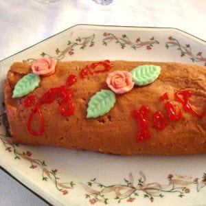 bûche de rozoy aux biscuits de reims