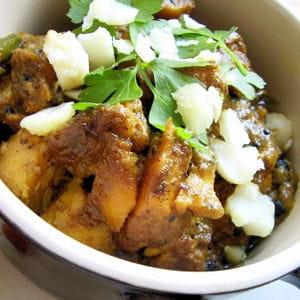 curry de haddock aux noix de macadamia