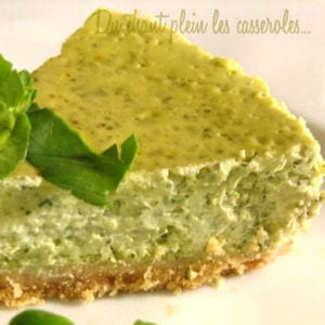 cheesecake cresson-menthe
