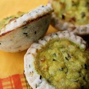 mini tartelettes de crabe à l'estragon