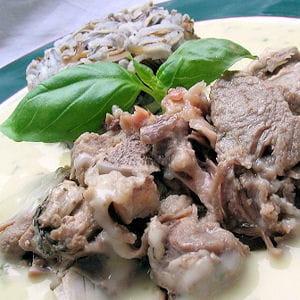 blanquette d'agneau au basilic