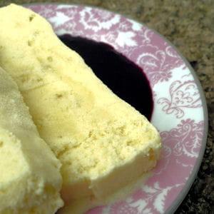 crème glacée à la rhubarbe