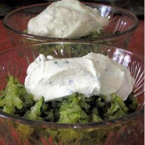 salade de courgettes et quenelles de ricotta