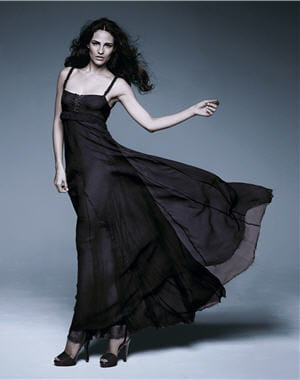 la robe longue en crêpe pure soie