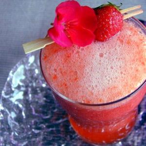 fraises pétillantes à boire