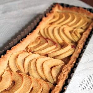 tarte vanillée et croustillante aux pommes