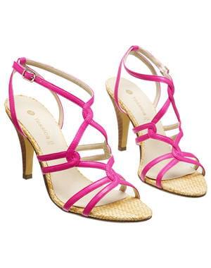 sandales à talon fuchsia de c&a