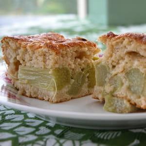 gâteau lorrain à la rhubarbe
