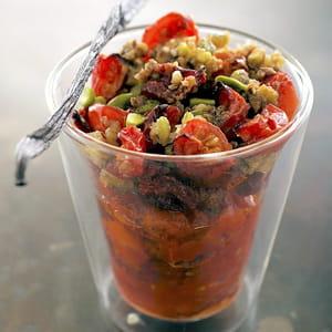 crumble aux deux tomates vanillées