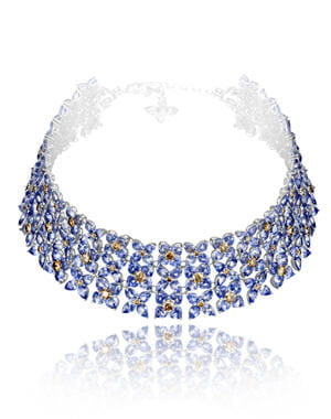 collier de saphirs et diamants 