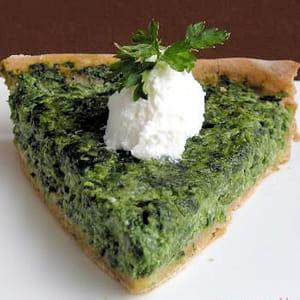 tarte aux épinards et à la brousse