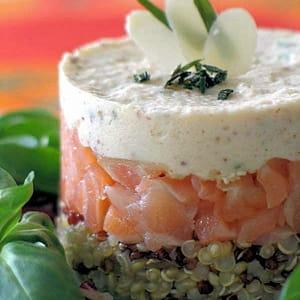 Quinoa au saumon fum et mousse d 39 amande 35 recettes for Entree facile et pas chere