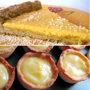 tarte au citron et mini tartelettes au citron