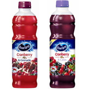ocean spray cranberry-cassis et cranberry-grenade