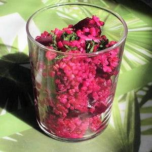 taboulé rose aux betteraves et boulghour