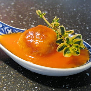 soupe tomate boulettes