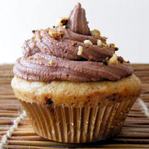 cupcakes choco-noisettes au petit goût de caramel