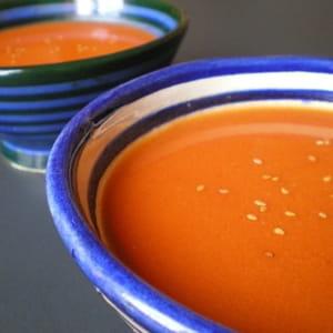 soupe aux tomates cerises rôties
