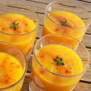 soupe glacée carottes, ananas et cumin