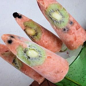 bâtonnets de fruits glacés
