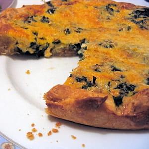 tarte au saumon et aux épinards