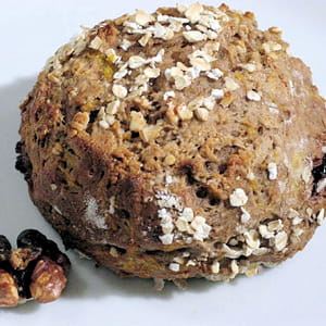 pain au potiron, marrons et noix