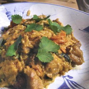 curry de dinde aux courgettes et aux carottes