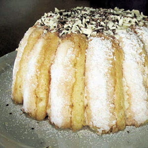 charlotte au chocolat blanc