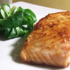 pavé de saumon au miel et piment