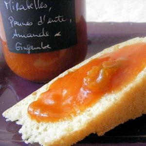 confiture de prunes au gingembre et à l'amande
