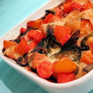 tartiflette de légumes confits