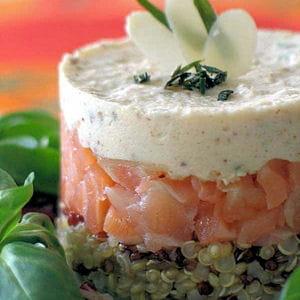 D couvrez la graine des incas entr es chic pour repas de for Entree froide chic