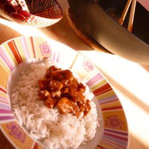 wok de poulet au curry madras
