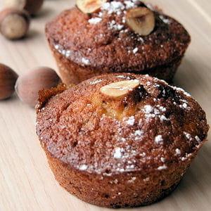 muffins aux noisettes et à la banane