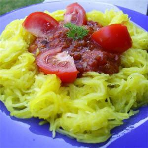 courgettes spaghetti à la bolognaise.