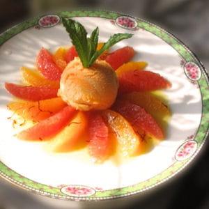 salade fraîcheur d'agrumes aux pistils de safran