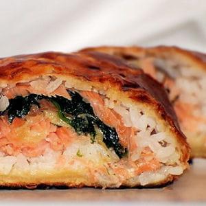 feuilleté au saumon fumé