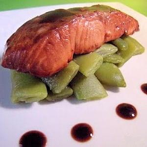 saumon laqué au sirop d'érable
