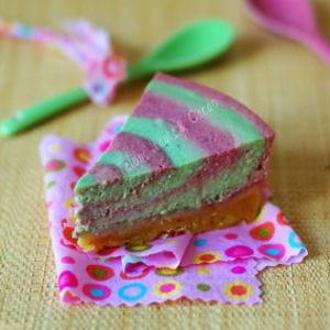 tarte à la faisselle pistache et griottes