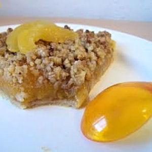tarte crumble à l'abricot